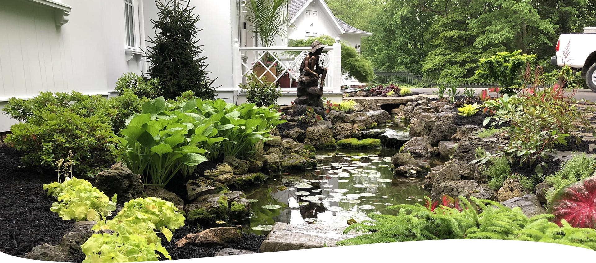 Pond and Landscaping